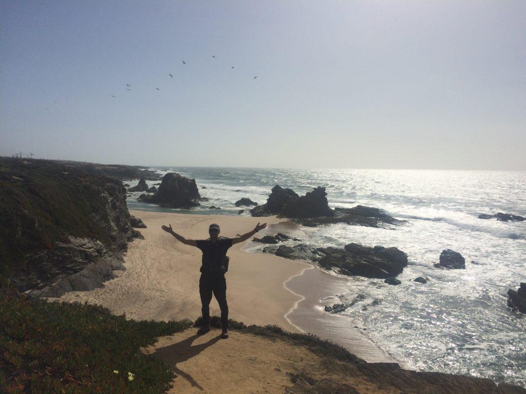 Man hiking in Portugal