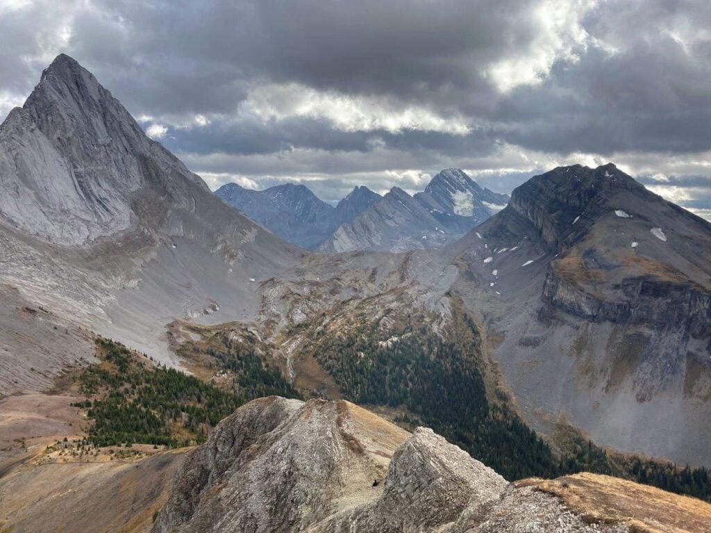 View of Mount Birdwood and Mount Vavasour