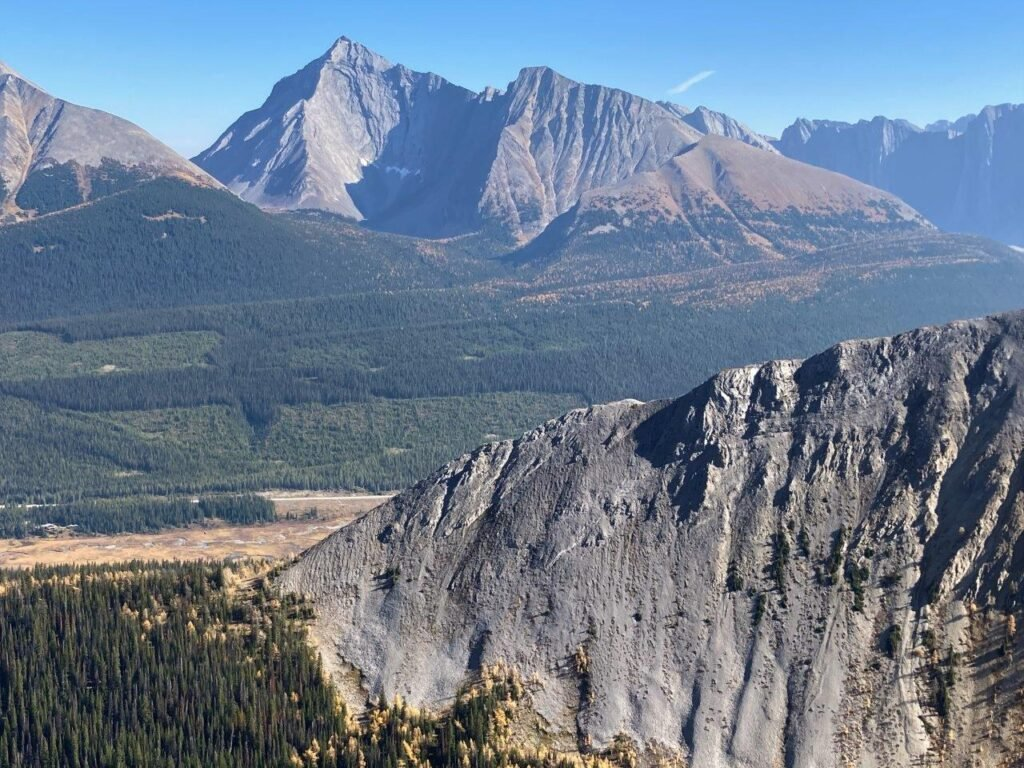 Mount Engadine behind Tent Ridge