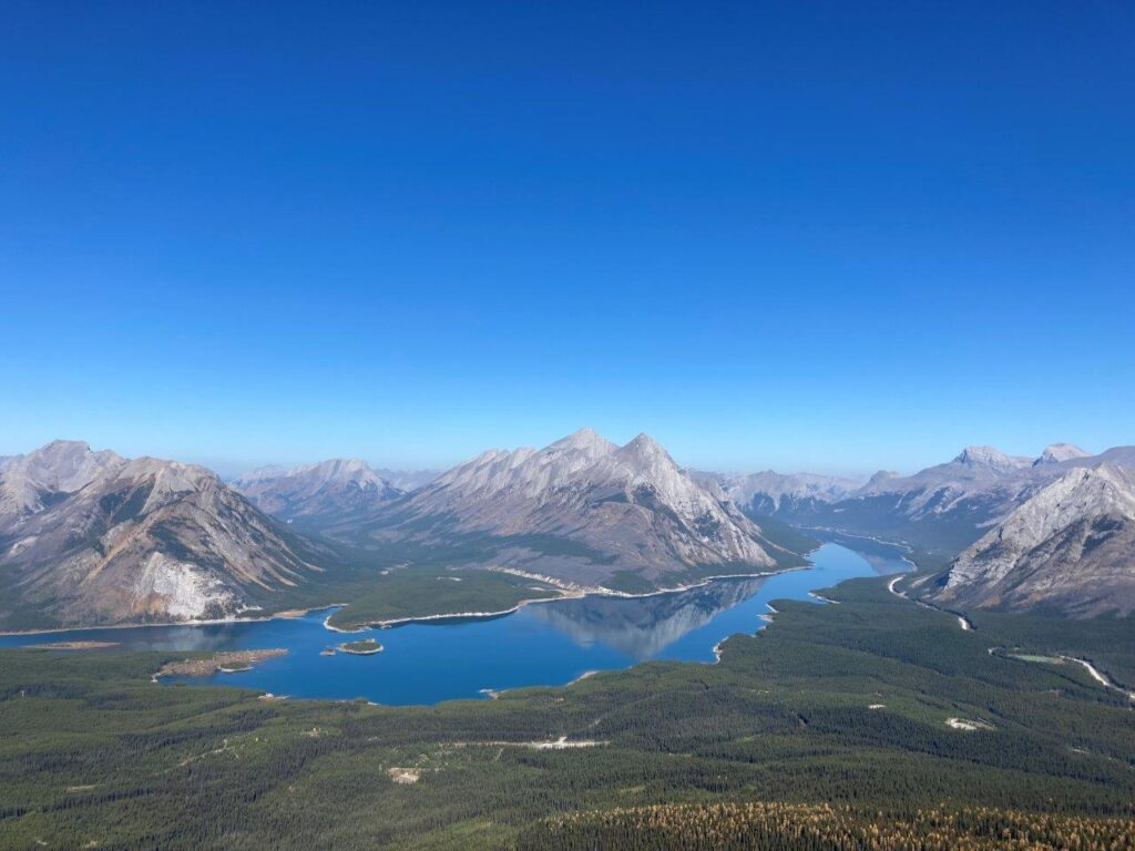 View of Spray Lakes from Tent Ridge