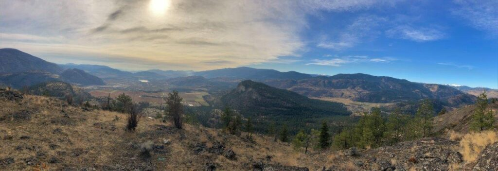 Panoramic view from the summit of Dogtown Trail in Okanagan Falls