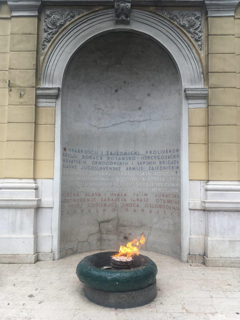 The Eternal Flame - a Sarajevo attraction