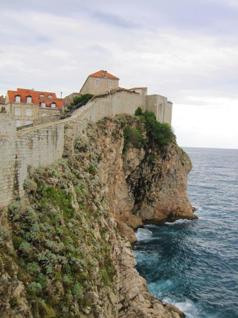 View of the city walls while walking on them during 24 hours in Dubrovnik