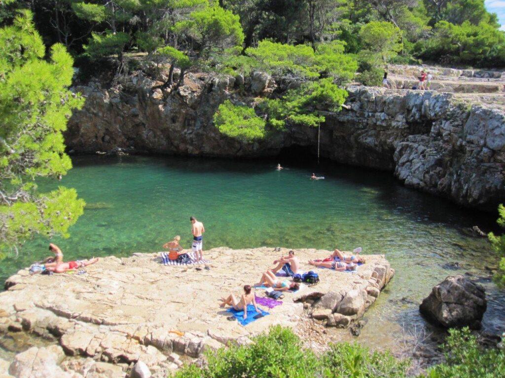 A swimming hole on Lokrum island