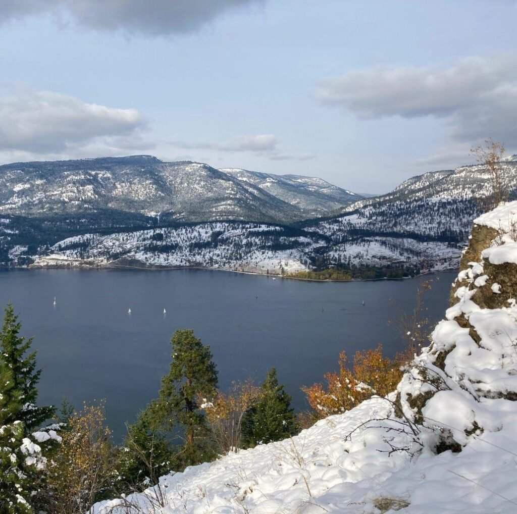 Lake Okanagan from Apex Trail on Knox Mountain