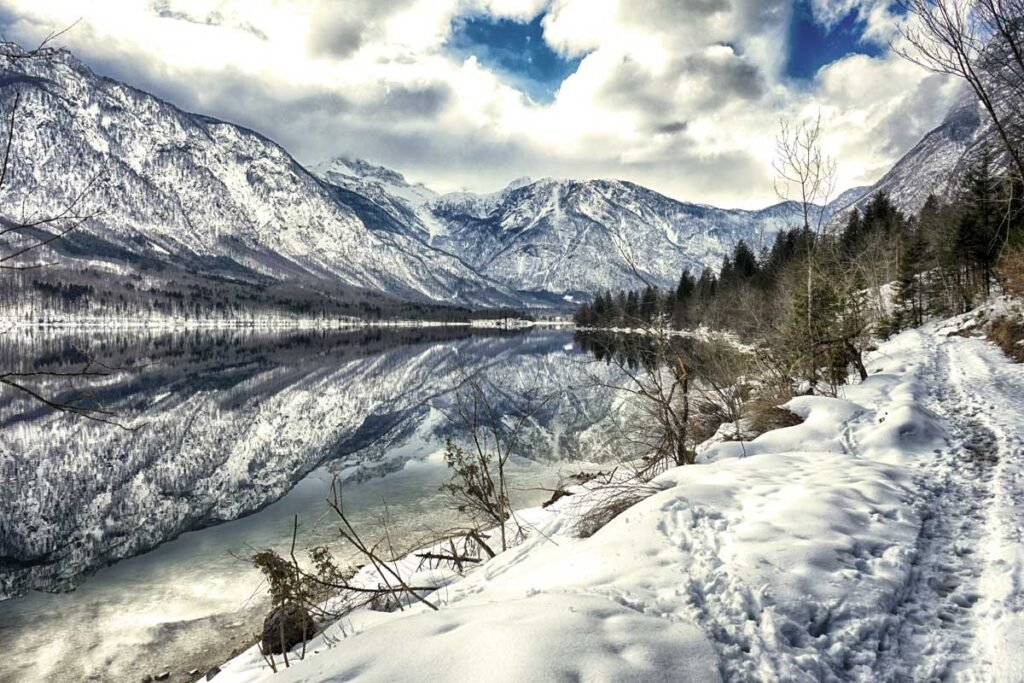 Lake Bohinj, Slovenia in winter