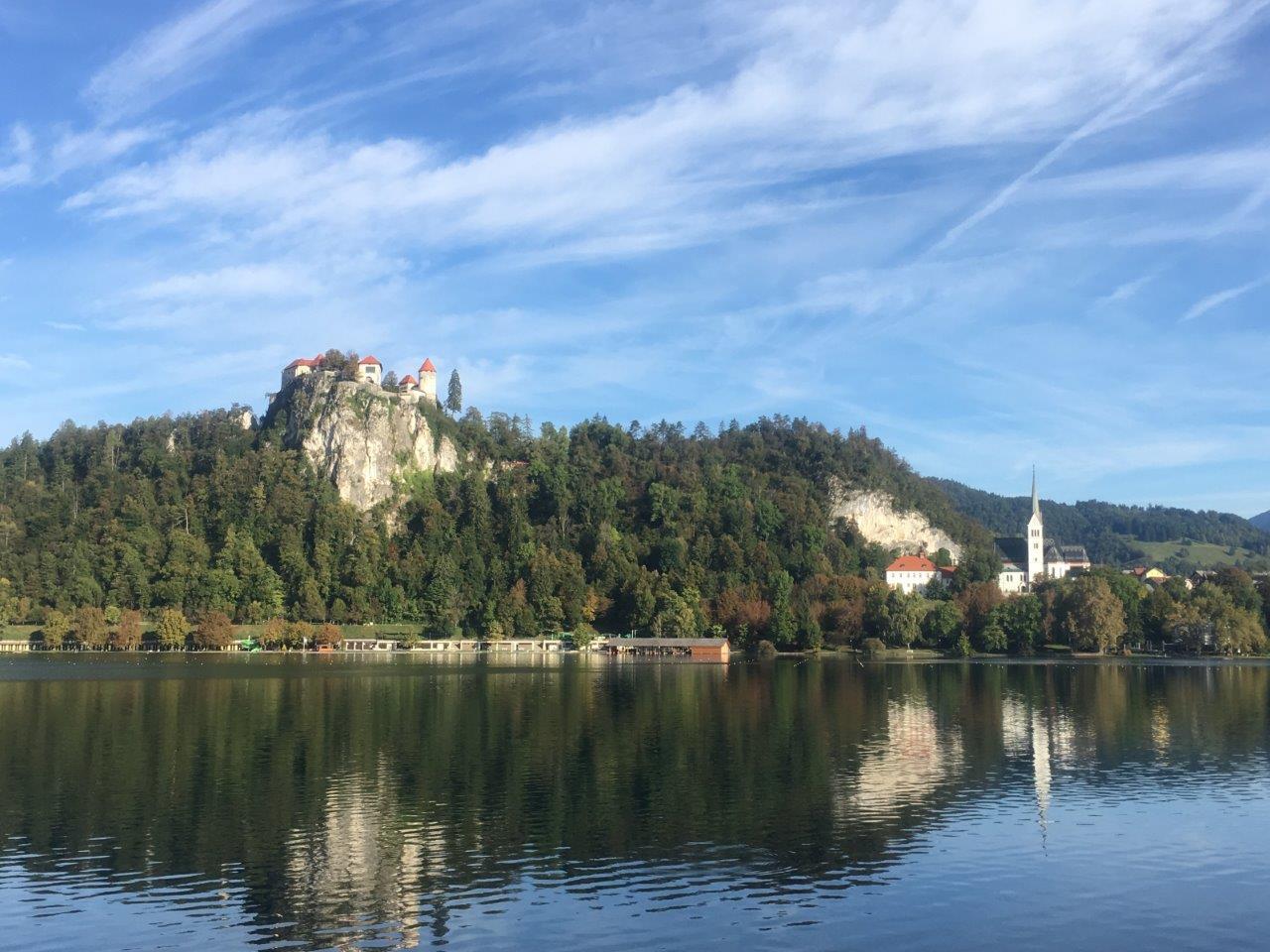 Bled Castle on Lake Bled, Slovenia