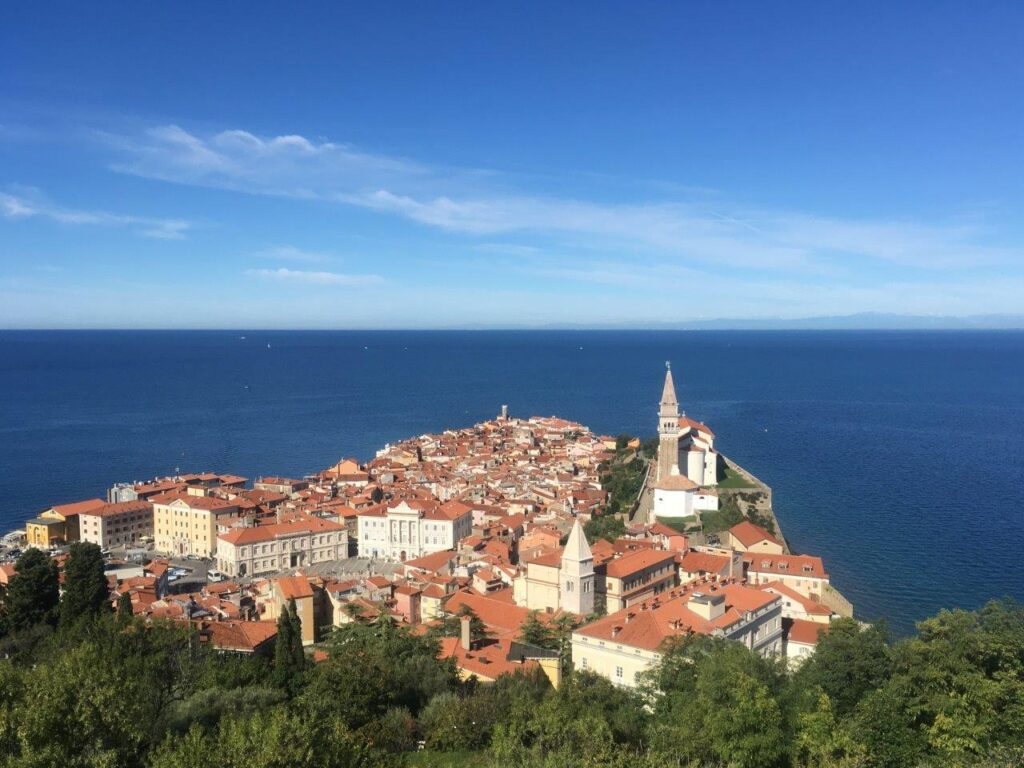 View of Old Town Piran from the Walls of Piran