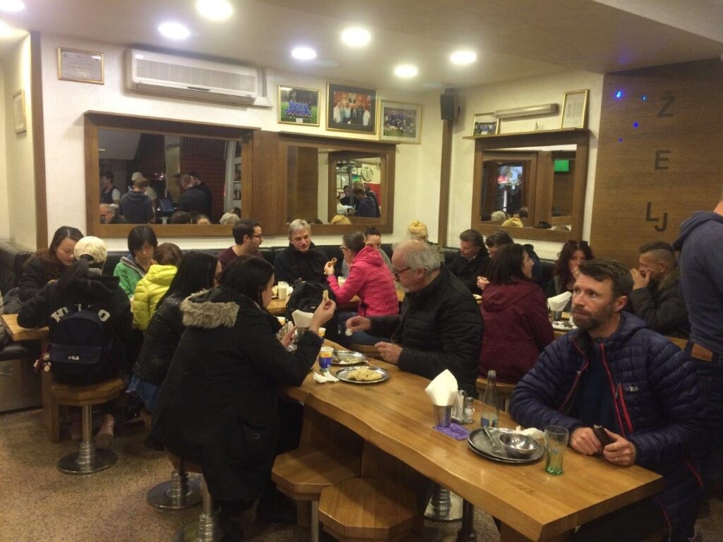 Sampling the traditional food in a local restaurant is one of the best things to do in Sarajevo