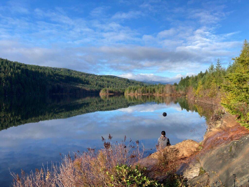 Allen Lake near Cumberland on Vancouver Island