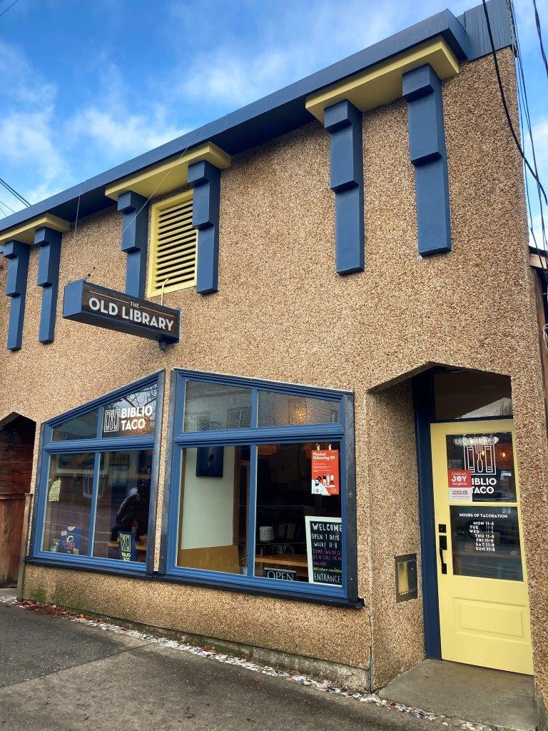 Biblio Taco restaurant in Cumberland BC