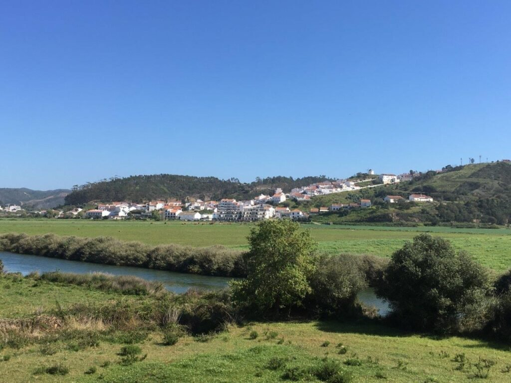 view of the red roofs Odeceixe Portugal