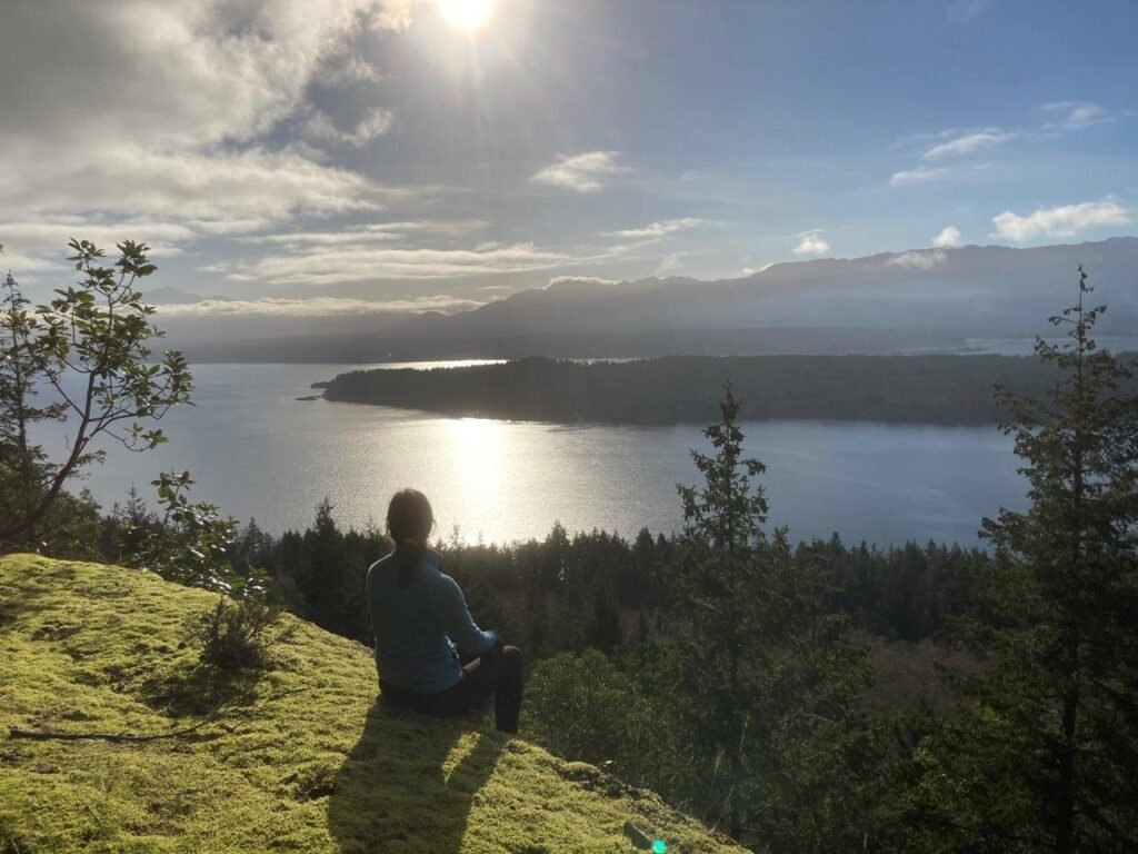 Cliff Trail on Hornby Island, British Columbia