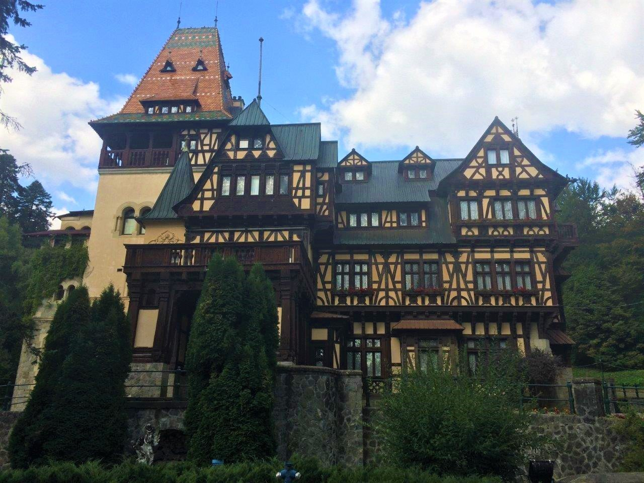 The Pelisor Castle from the front in Sinaia Romania