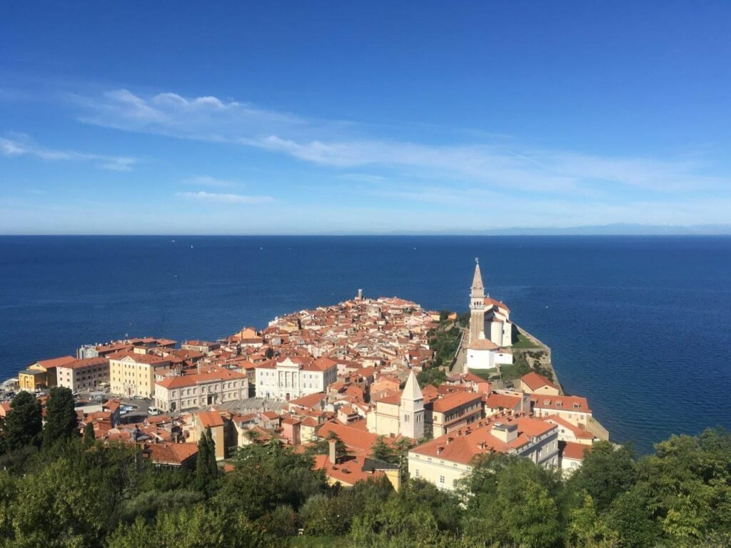 View of Piran, Slovenia from the walls