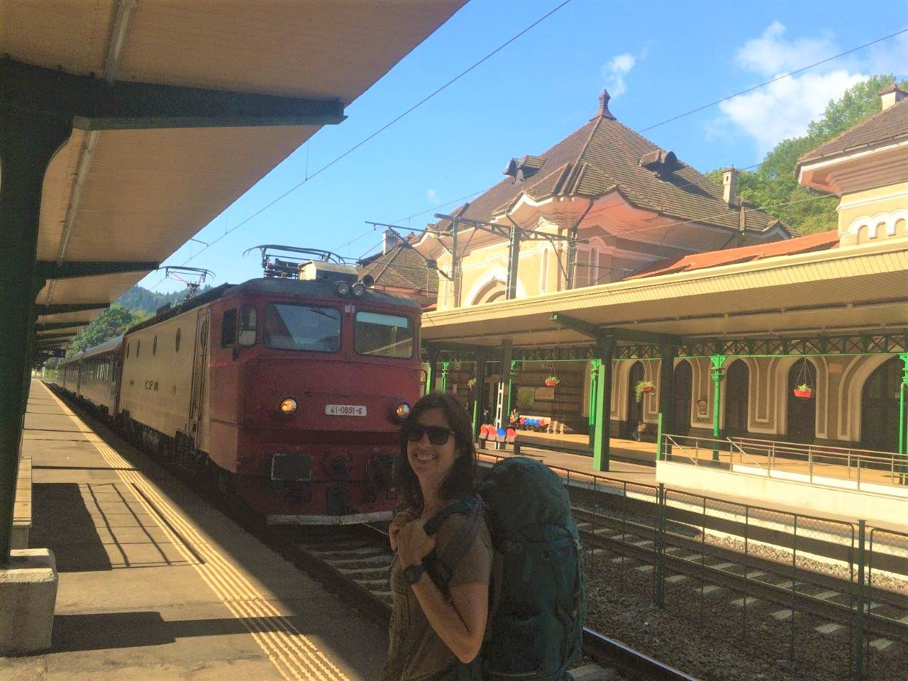 Waiting for the train at the Sinaia train station