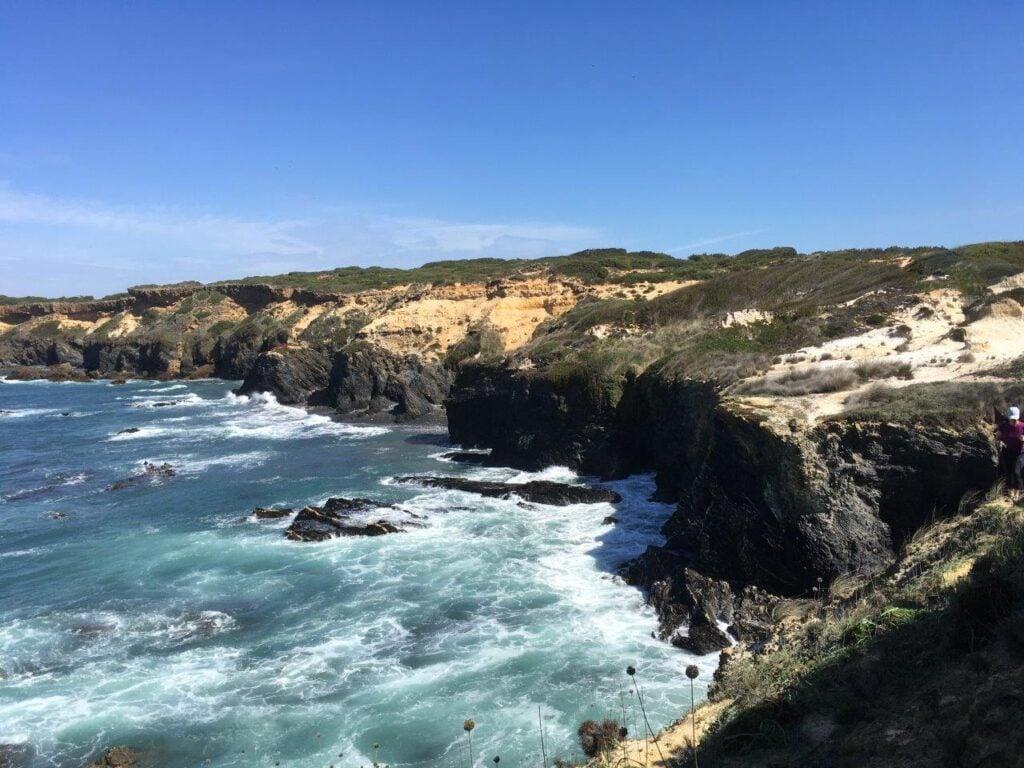 Coast and cliffs near Vila Nova de Milfontes Portugal