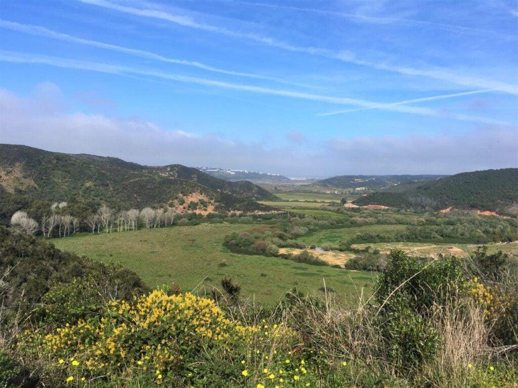Green countryside near Aljezur Portugal