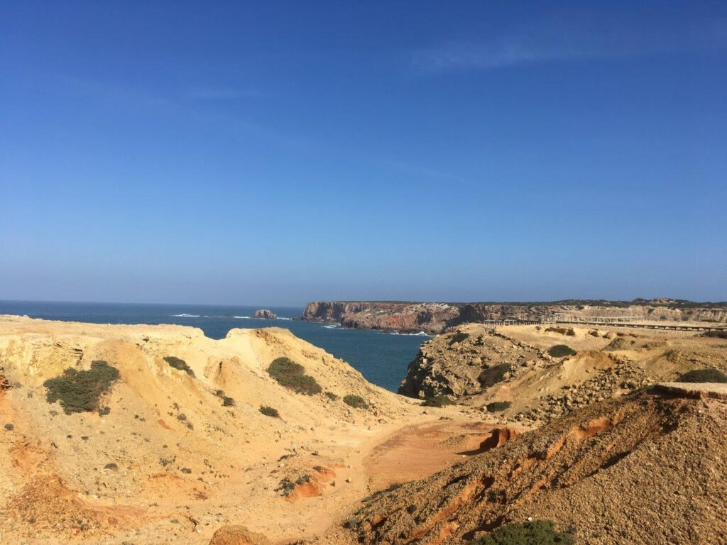 The cliffs and viewing platforms near Carrapateira Portugal