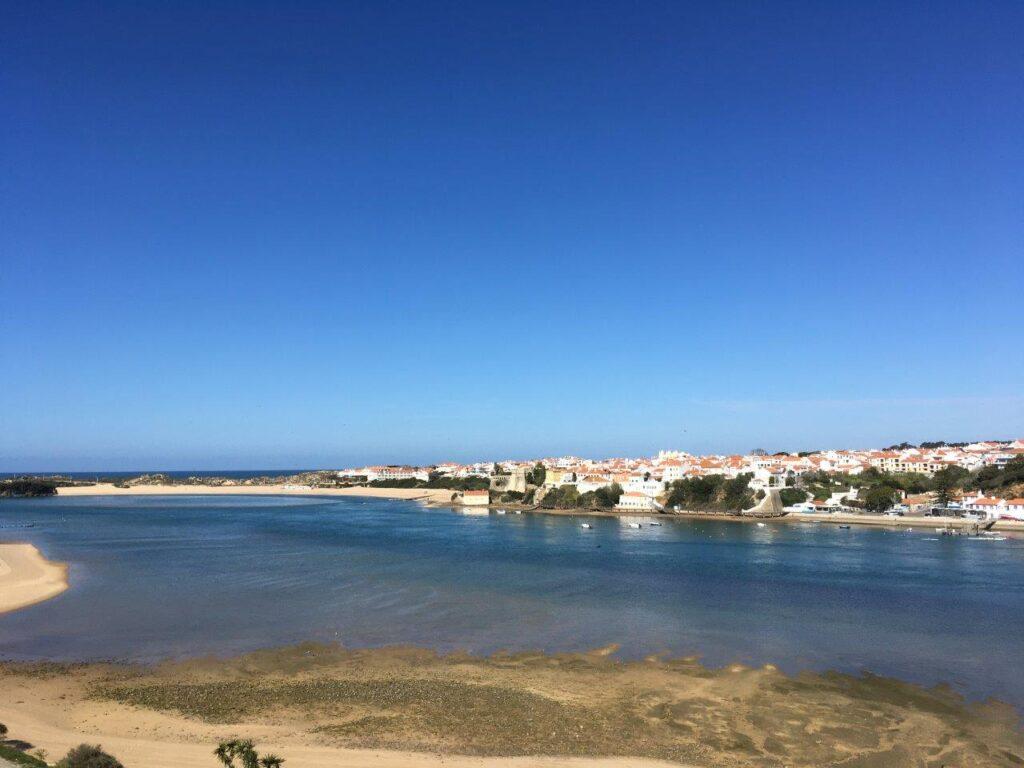 Vila Nova de Milfontes Portugal from across the river