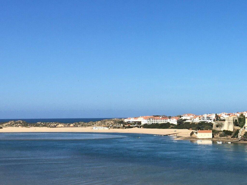 Praia do Farol beach by the fortress in Vila Nova de Milfontes Portugal