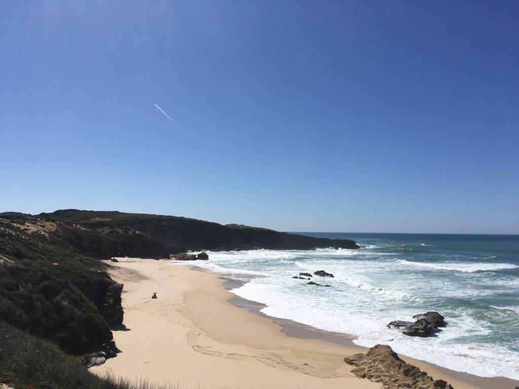 The Praia do Malhao beach near Vila Nova de Milfontes Portugal