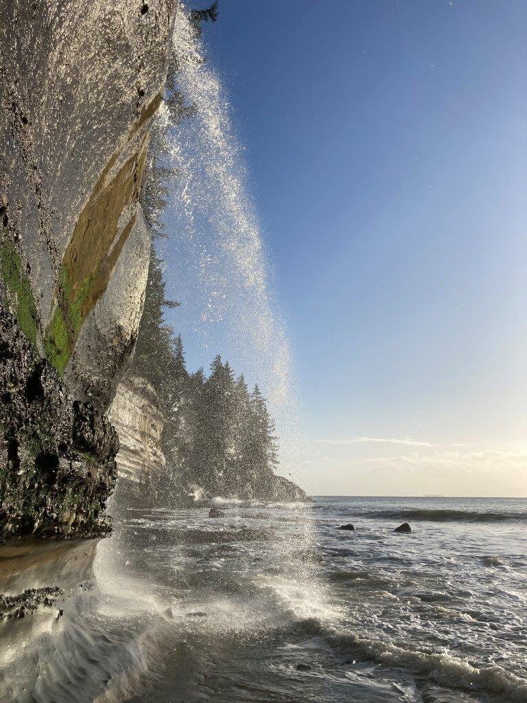 Waterfall on Mystic Beach BC