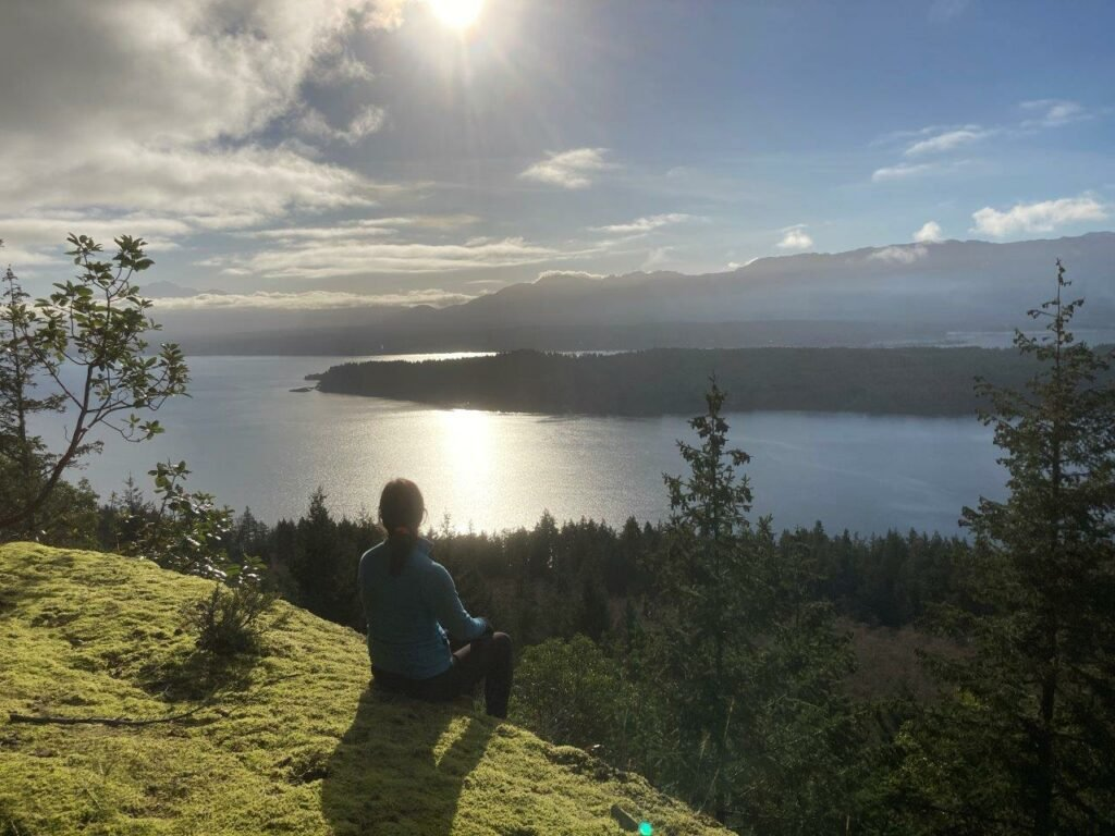 Cliff trail on Hornby Island BC