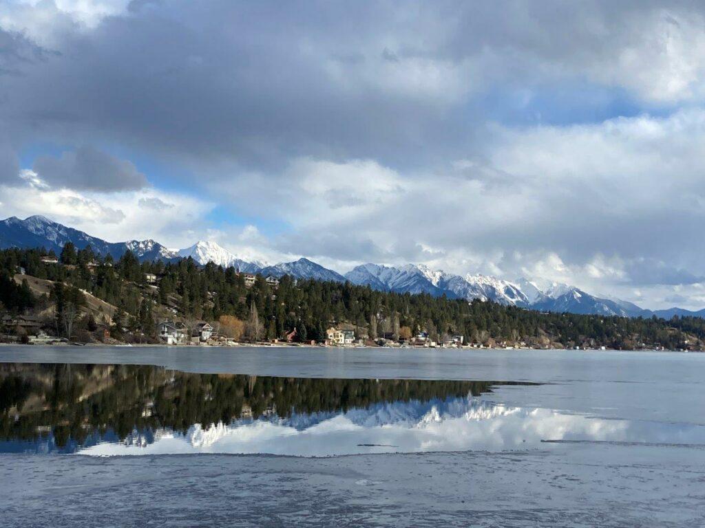 Lake Windermere mountain reflection