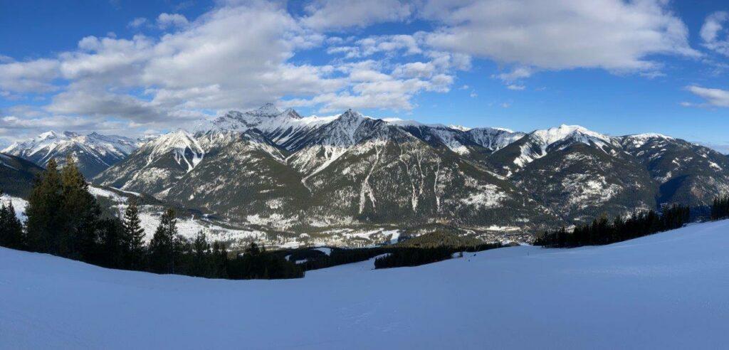 View from Panorama ski resort