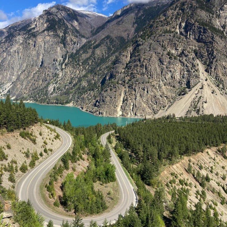 Highway 97 BC and Seton Lake
