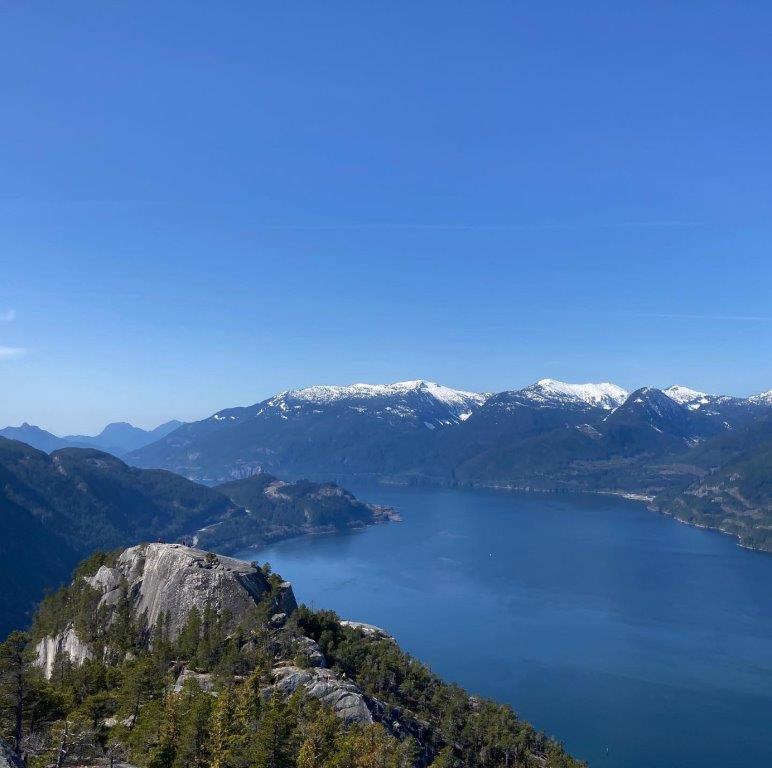 View from the Stawamus Chief Second Peak