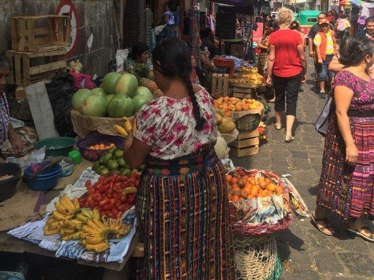 Local market in San Pedro on Lake Atitlan