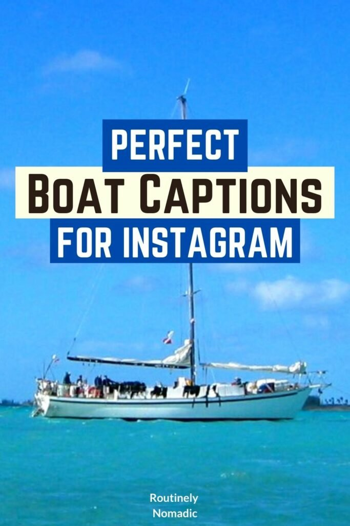 Did you just have the most amazing time on a boat and are now looking for the perfect boat captions for Instagram or a social media post? Here are the best cute, funny, punny, short, clever and boat, sailing and yacht captions for Insta for your summer posts or when you are driving a boat. Find the best one that fits your experience, picture or just inspires you!
