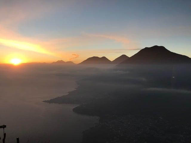 Sunrise from Indian Nose above San Juan La Laguna