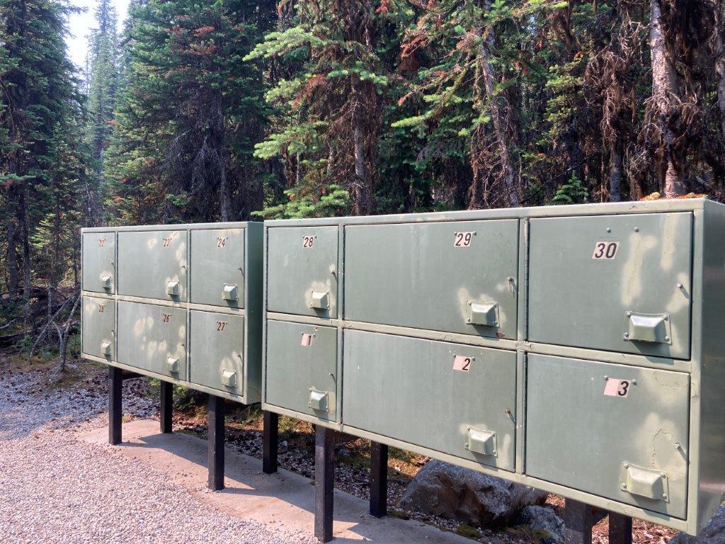 Bear lockers for Lake O'Hara camping