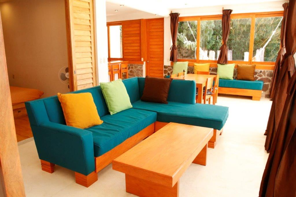 Living room area at Pasajcap Rental the answer to where to stay on Lake Atitlan