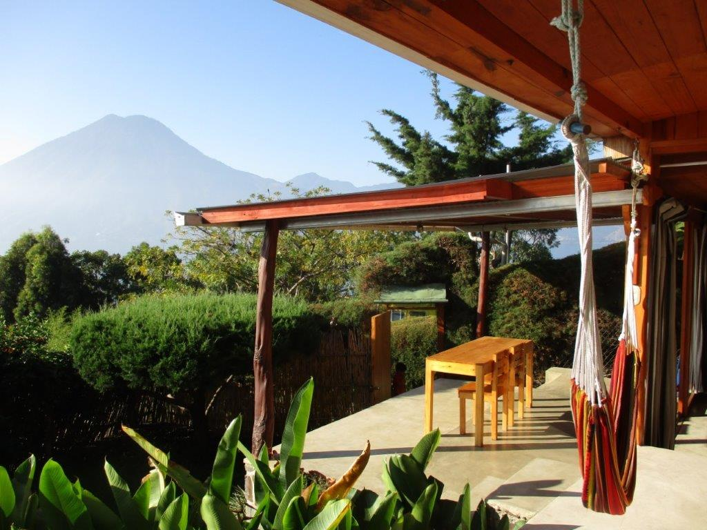 Outdoor palapa at Pasajcap Rental the answer to where to stay on Lake Atitlan