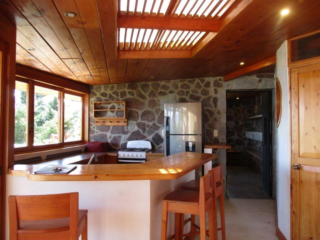 kitchen at cottage at Pasajcap Rental the answer to where to stay on Lake Atitlan