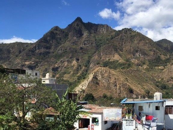 View of the San Juan la Laguna mirador from below