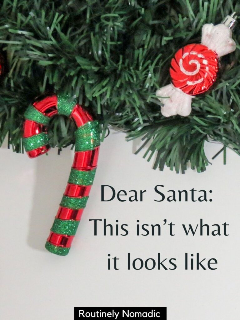 Tree decorations with Christmas party Captions