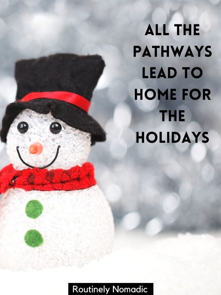 Fake snowman with cute Christmas captions