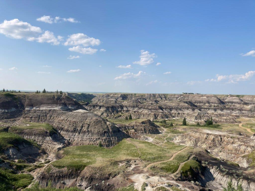 Badlands at the Drumheller Horseshoe Canyon one of the best Drumheller hiking option