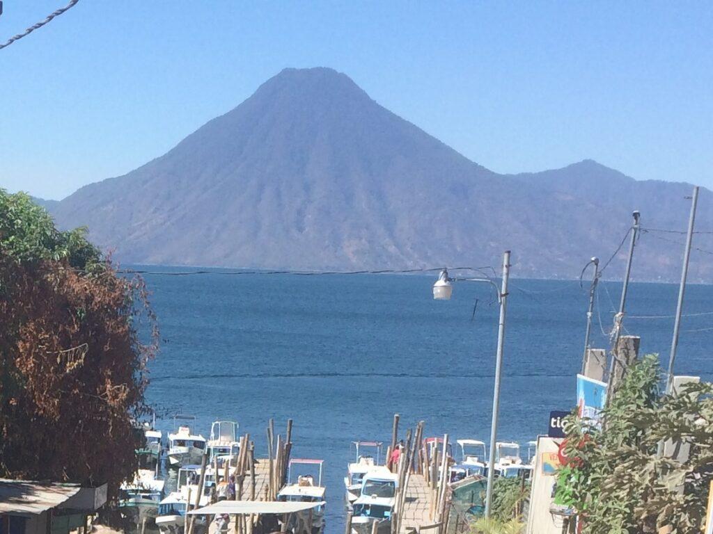 public boat dock at Panajachel Guatemala Lake Atitlan