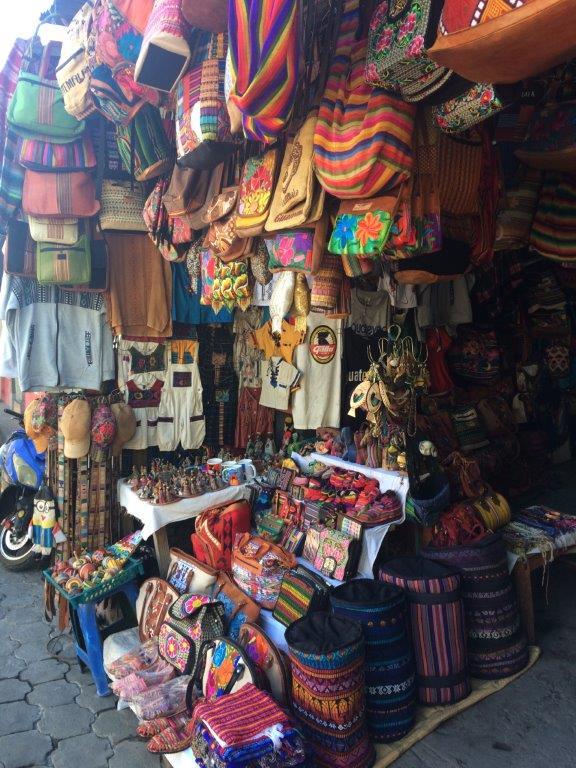 Handicrafts for sale at Panajachel Guatemala Lake Atitlan