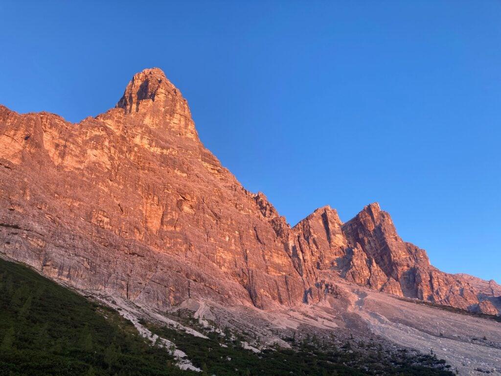 Alpine glow on the Alta Via 1 Dolomites