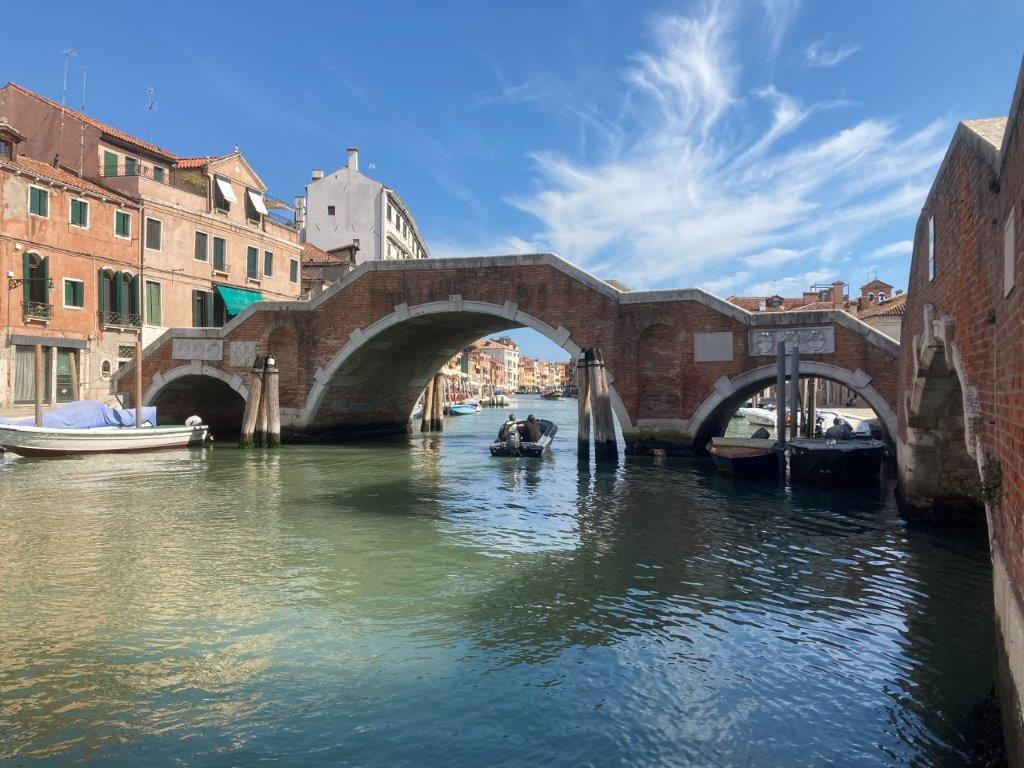 Bridge of Three Arches in Venice