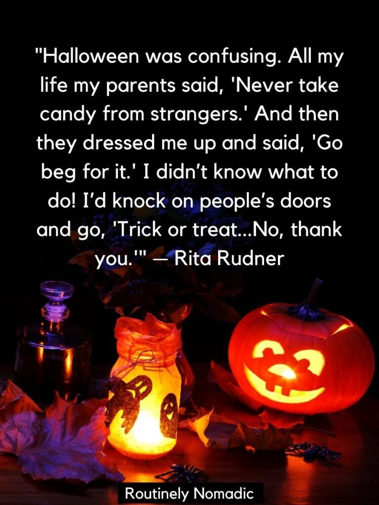 Halloween decorations with funny Halloween Quotes by Rita Rudner