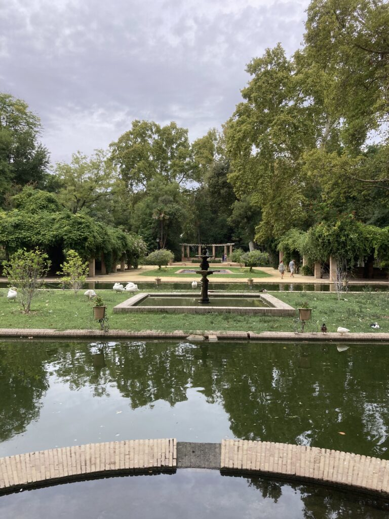 Fountain at the Maria Luisa Park one of the Seville things to do