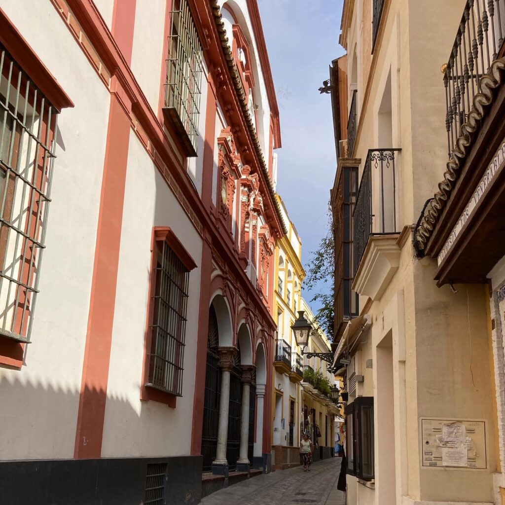 The narrow streets of the Jewish quarter one fo the best things to see in Seville Spain